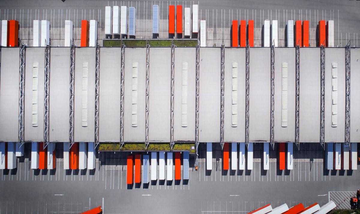 Photo of a logistics warehouse